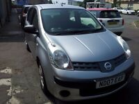 2007 nissan note 1.4 s 5door mpv.full main dealer service records.petrol.manual.