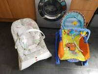 Baby bouncer and rocker chair