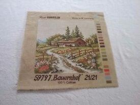 Rico-Gobelin Tapestry/ Needlepoint Canvas No.59797 'Bauernhof'