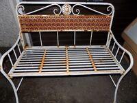 Vintage metal folding garden bench