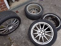 17 inch Suzuki alloys and tyres