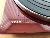 TEAC turntable, amp & speakers