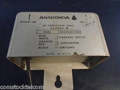Anaconda Communications Aj6904 S6a Ac Isolation Transformer For Open Wire Line