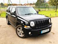 JEEP PATRIOT BLACK 2.0 DIESEL MANUAL. 109k MILES,FRESH MOT, QUICK SALE BARGAIN!!!
