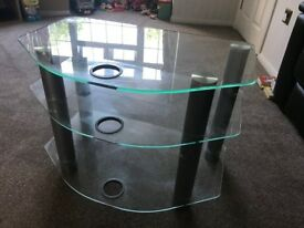 TV Stand - Glass - Excellent condition