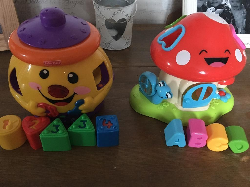 Fisher price interactive learning cookie jar and toad stool