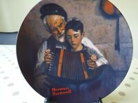 Collectable decorative plate - The Music Maker by Norman Rockwell