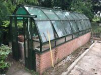Large aluminium framed greenhouse glasshouse cold frame Hartley Botanical 2x6 m