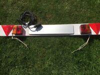 Rear trailer lighting board