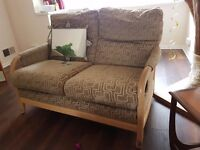 Sofa, 2 seater and armchair, free to collect. Three 3 piece suite sofas