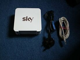 Latest model SKY router. including mains cable and ethernet cable
