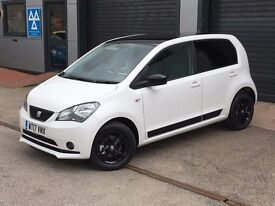 2017 Seat Mii Design White 1.0 litre 5dr with Black Contrast Roof. Insurance Group 2.