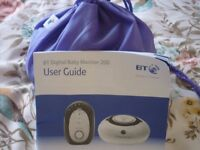 BT Digital Baby Monitor in great condition with instructions and handy carry bag.