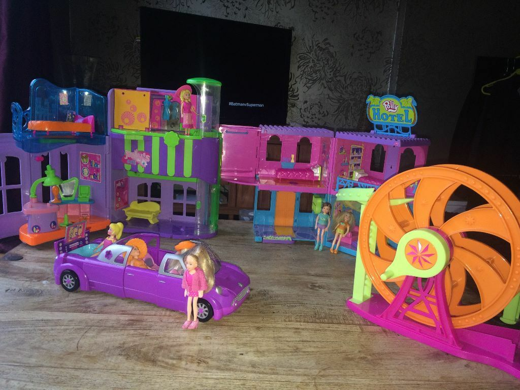 Polly pocket dolls swimming pool car big wheel hotel - Hotels in derbyshire with swimming pool ...