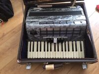 New Year - New Skill - Beautiful Pearlescent Grey Baile Accordion - very good condition