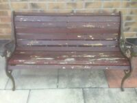Garden Bench for sale needs some TLC