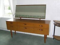 VINTAGE DRESSER WITH LONG MIRROR