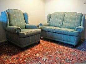 Wingback sofa and one chair