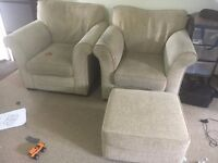 Two single seater sofas with pedestal for sale £10