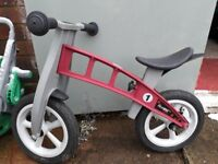 Firstbike first bike 'Cross' balance bike in Red with lowering kit