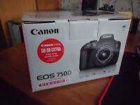 CANON EOS 750D BRAND NEW/UNTOUCHED, UNWANTED BIRTHDAY GIFT