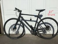 Cube bike with hyd gears and oil brakes