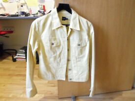 Gap ladies jacket, size small petite- lovely yellow shade for summer