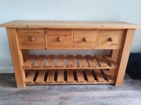 Kitchen / Hallway Soild Pine Sideboard / shop display unit