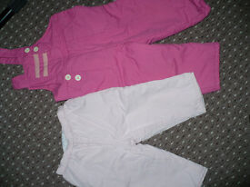 Bundle of 2 Padded Winter Trousers for Girl 12-18mths old. Good condition.