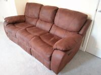 Manual Recliner Sofas - 3 Seater & 2 Seater - available individually or as a pair (price per sofa)