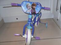 girls 10inch frozen bike as new condition