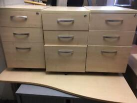 3 draw desk pedestal 20 available