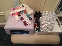 Nail job lot bundle uv gel extensions kit and uv gel polish kit