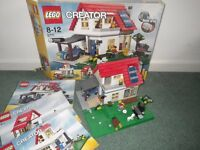 LEGO Creator 5771 Hill side House - 3 in 1 Lego house set. excellent condition complete.
