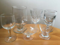 6 assorted vintage stemmed glasses. Very good condition. £5 ovno the lot.