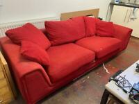FREE SOFA - 3 person red