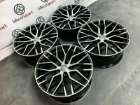 """BRAND NEW 19"""" 20"""" 21"""" 22"""" AUDI R8 STYLE ALLOY WHEELS - GLOSS BLACK ALSO AVAILABLE WITH TYRES-"""