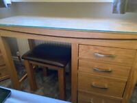 Desk or dressing table & stool