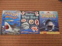 Shark Books x 3 in good condition.