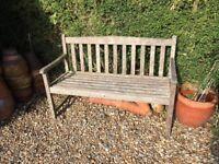 Garden bench, 2 seater, vintage, wood