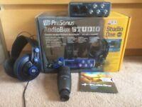 Presonus Audiobox USB Studio One package: with USB + Presonus Mic & headphones, software