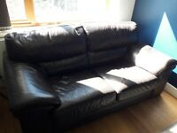 2 seater leather sofa large