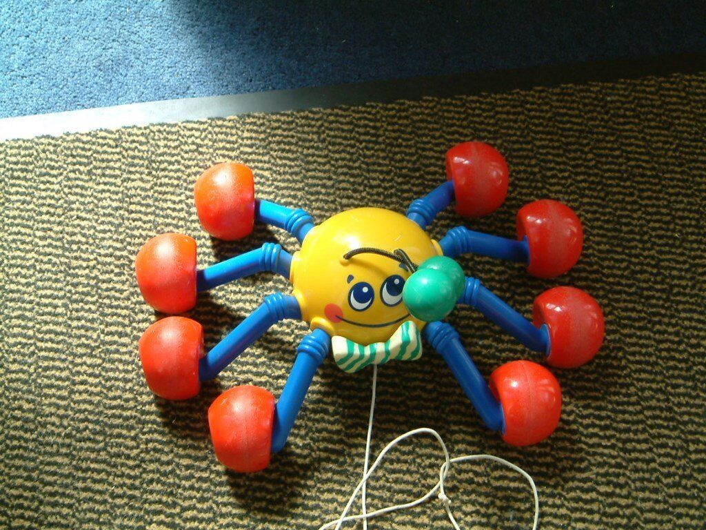 Tomy Toys Pull Along Spider On Wheels Makes Sounds When Pulled Alongin Norwich Norfolk