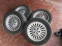 "BMW e39 Wheels Style 33 'Turbine' 16"" w/good tyres"