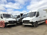 Mercedes sprinter van parts available 2008 year 311cdi 313cdi lwb prop shaft axel gearbox wheel