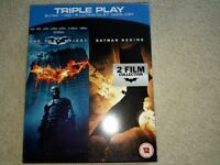 The Dark Knight and Batman Begins Blu Ray and DVD still sealed