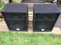 2x Stageworks 300W PA speakers