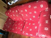 Good condition good sized red sofa bed