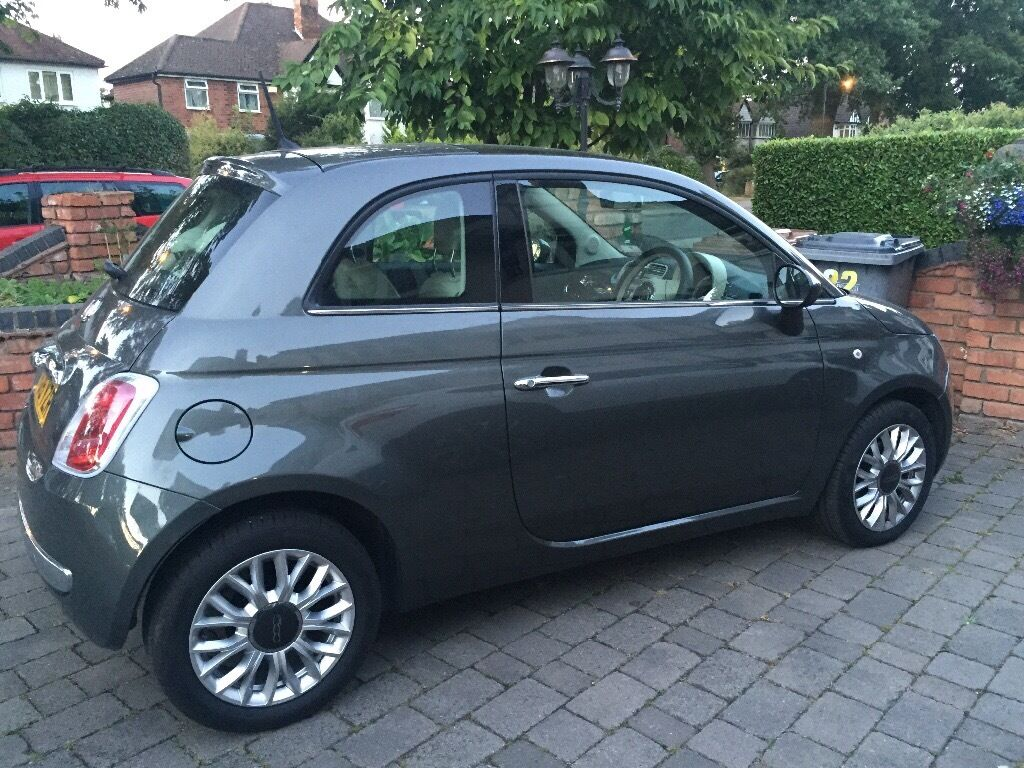 15 plate fiat 500 lounge grey in shirley west midlands gumtree. Black Bedroom Furniture Sets. Home Design Ideas