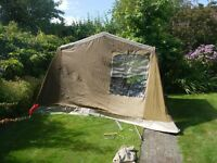 old but complete frame tent